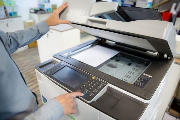 lcd mesin fotocopy blank