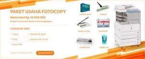 Banner Paket Usaha Fotocopy