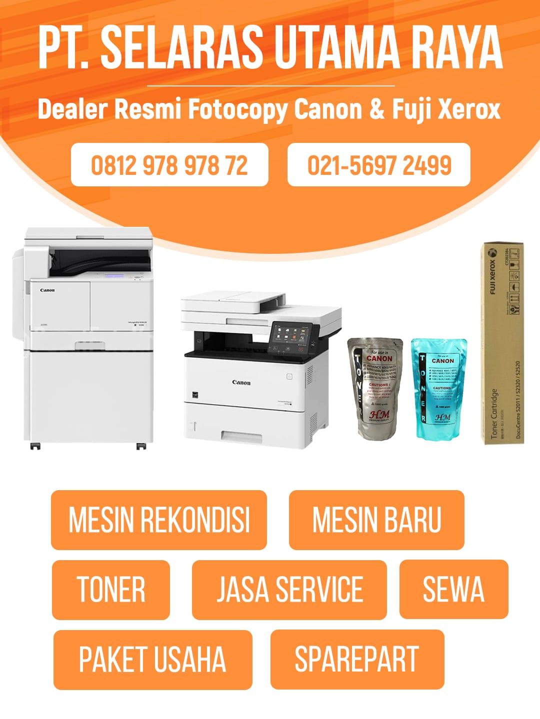 dealer resmi fotocopy canon dan fuji xerox