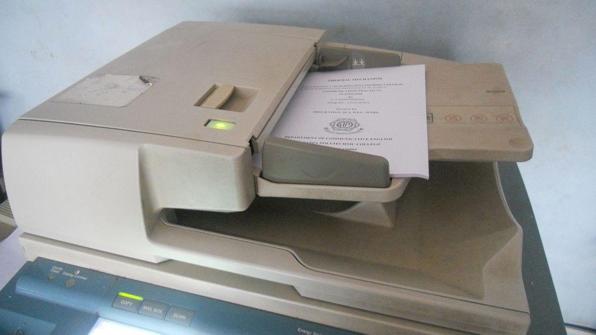 Penyebab Hasil Fotocopy Tidak Rata